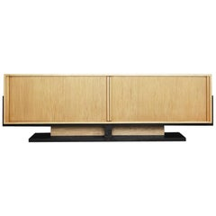 Art Deco Low Roll Sideboard in Bauhaus Style, 1960s