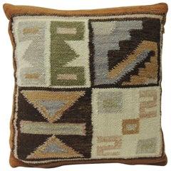 Petite Vintage Woven South American Woven Kilim Decorative Pillow