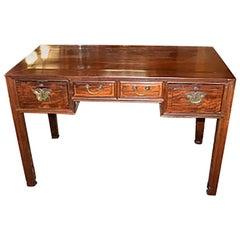 Antique Chinese 19th Century Teak Wood Writing Desk