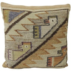 CLOSE OUT SALE: Vintage Woven South American Woven Kilim Decorative Pillow