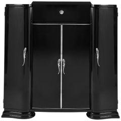 Black Art Deco Side Board
