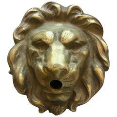 Small, Bronze Lionhead Spout Cover