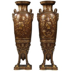 Fine Pair of Neo-Greek Vases by F. Levillain and F. Barbedienne