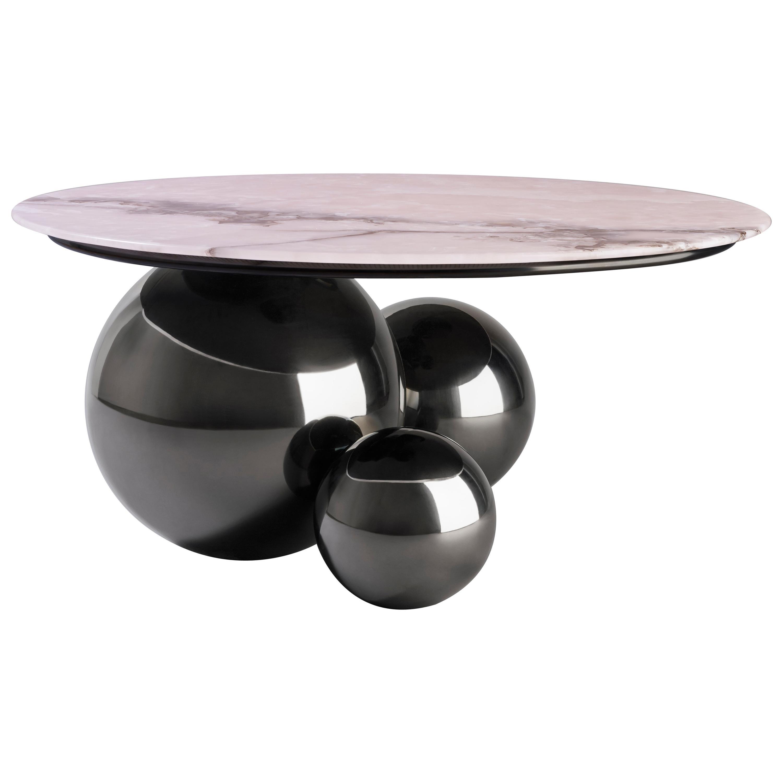Ordinaire U0027Jinshi Pink Jadeu0027 Coffee Table, Gunmetal Grey Version. U0027
