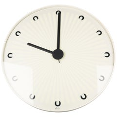 Large Memphis Clock, White, Black, du Pasquier & Sowden x Neos, Italy, 1980s