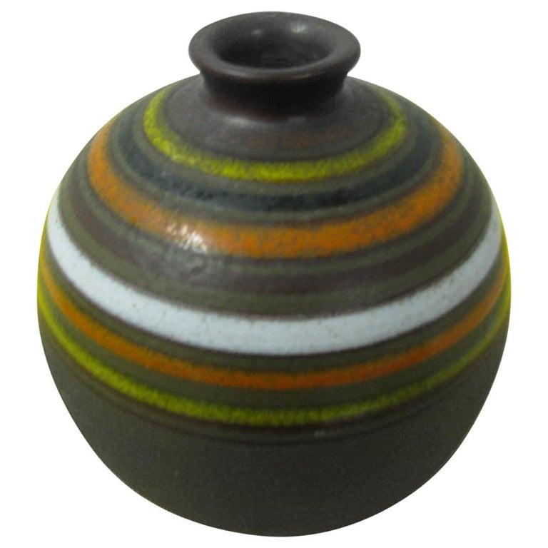 Mid Century Modern Bitossi Spherical Vase Rosenthal Netter For Sale