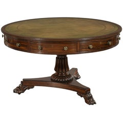 Late George III Regency Period Revolving Mahogany Drum Table by Gillows