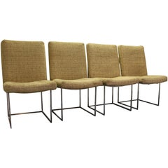 Set of Four Midcentury Danish Modern Milo Baughman Thayer Coggin Dining Chairs