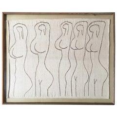 Fiber Art Weaving, Nude Dancers