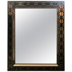 Hollywood Regency Style Églomisé Rectangular Wall or Console Mirror