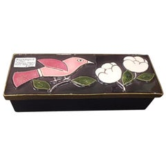 1970s French Francois Lembo Ceramic Box