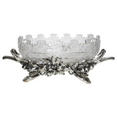 French 19th-20th Century Louis XV Style Silvered Centrepiece by Christofle & Cie