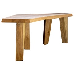 "Small Coffee Table or Bench in Oak by Jacques Jarrige ""Nazca"""
