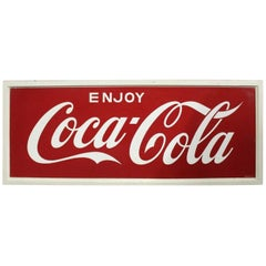 1968 Vintage Coca-Cola Soda Tin Sign