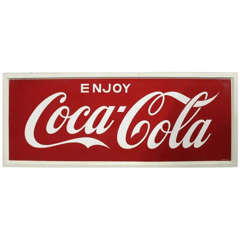 1968 Vintage Coca-Cola Soda Tin Sign