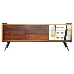 Mid-Century Modern Rosewood Sideboard with Pattern, 1960s