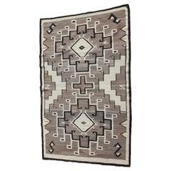 Two Grey Hills Navajo Indian Weaving