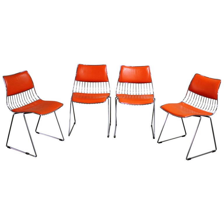 Set of Four Dinner Chairs by Rudi Verelst for Novalux, 1970s