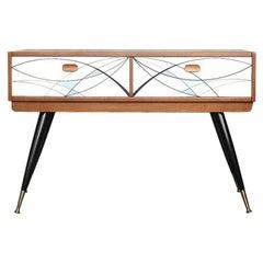 Midcentury Scandinavian Modern Teak Console Table, 1960s