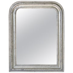 Louis Philippe Silver Gilt Mirror (H 26 x W 20 1/4)