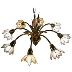 Brass Regency Chandelier in the Style of Maison Jansen, Belgium