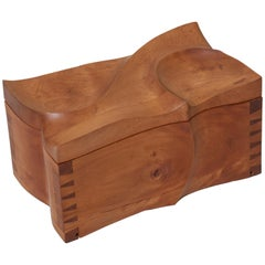 Decorative Wooden Box in the Manner of Michael Coffey