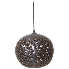 Stan Bitters Ball Lamp in Spray Metal, USA, 2017