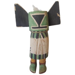 20th Century Replica of Hopi Kachina Doll, Hand-Carved and Painted Cotton Wood