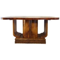 Midcentury Art Deco Sculptural Butterfly Walnut Burl Veneer Centre Table Base