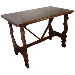 Antique Italian Tuscan Renaissance Refectory Style Hand Crafted Oak Farm Table
