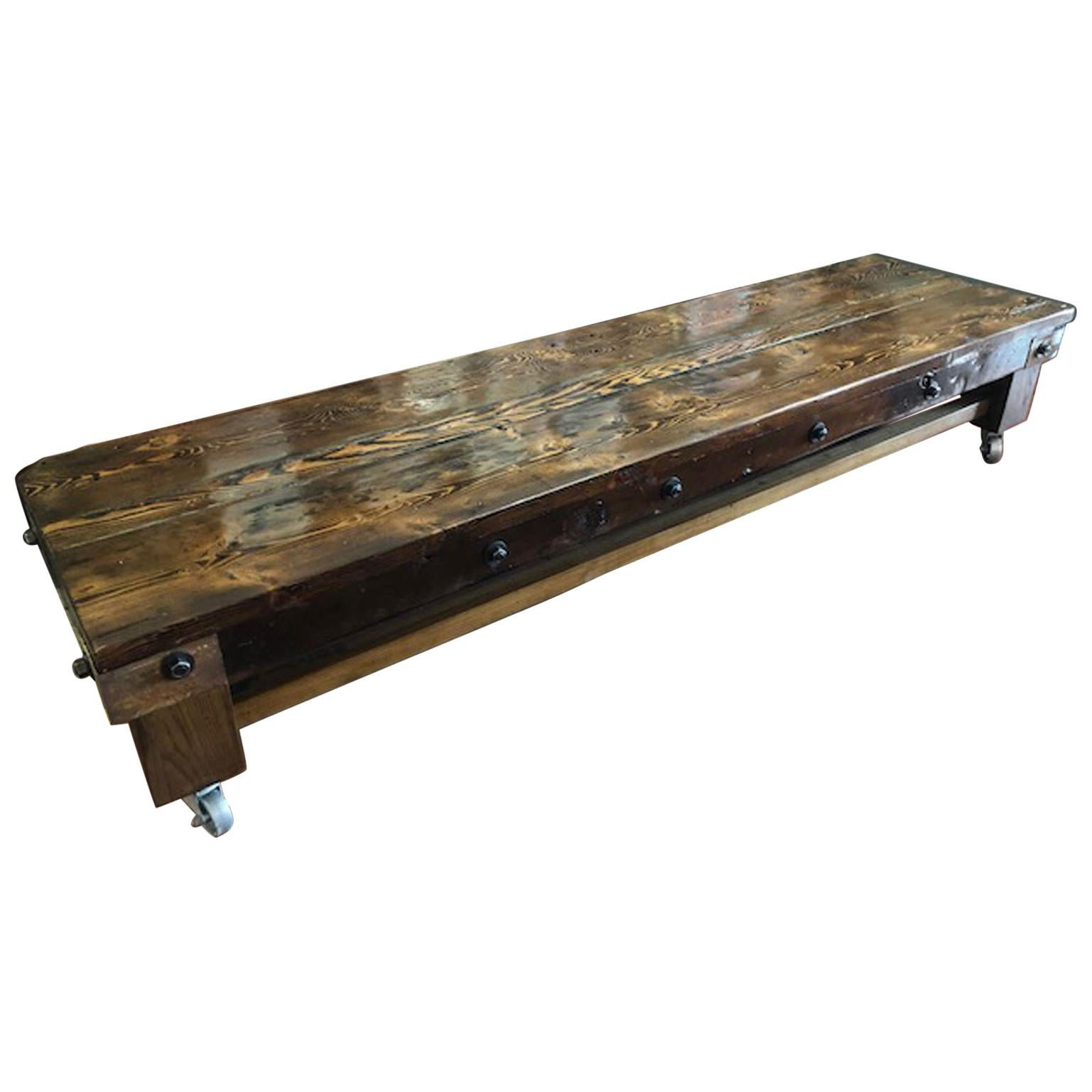 Industrial Style Low Coffee Table