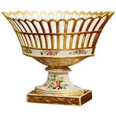 Old Paris Porcelain Reticulated Compote, Paris, circa 1815