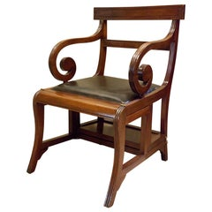 Regency Mahogany Metamorphic Chair, England, circa 1810