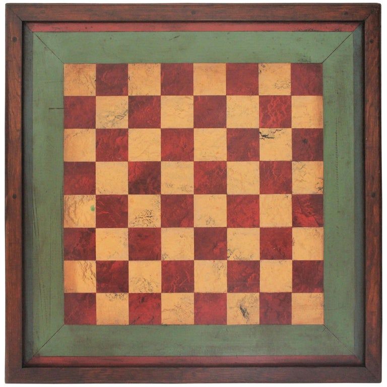 Gameboard Early 20th Century Original Paint For Sale
