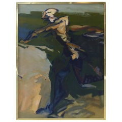 1962 Large Mid-Century Modern Figurative Abstract Painting
