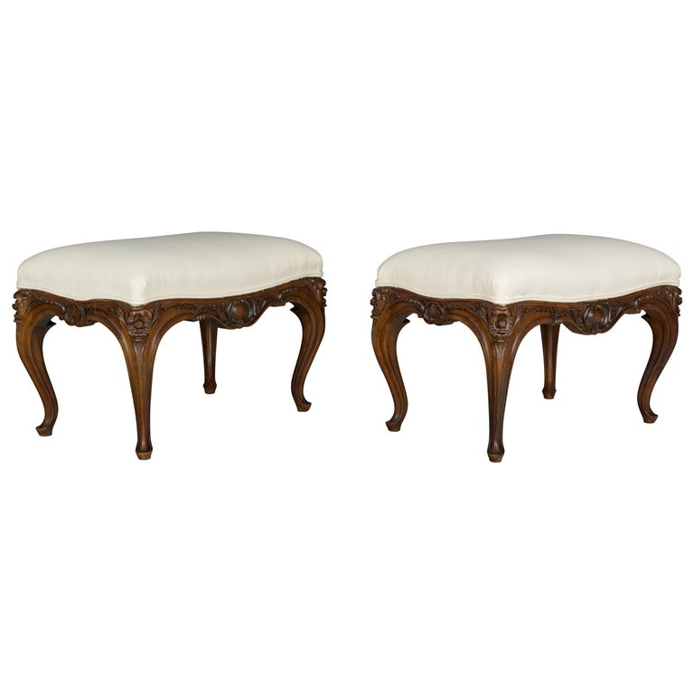 Pair of Louis XV Style Foot Stool or Bench