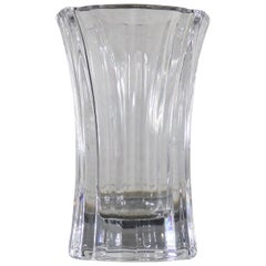Orrefors Crystal Vase by Lars Hellsten Signed and Numbered LH 4599-22