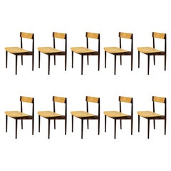 1960s Set of Ten Henry Rosengren Hansen Model 39 Dining Chairs in Rosewood
