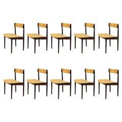 1960s Set of Ten Henry Rosengren Hansen Model 39 Dining Chairs in Rosewood