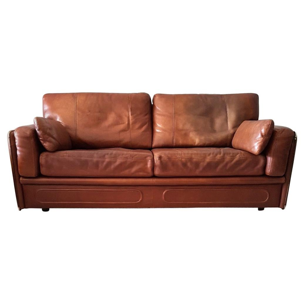 Merveilleux High Quality Thick Leather Sofa Model Miami By Baxter, 1993