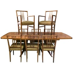 Fabulous Gordon Russell Dining Table and Eight Chairs Rosewood Burford R818