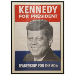 John F. Kennedy for President Campaign Poster