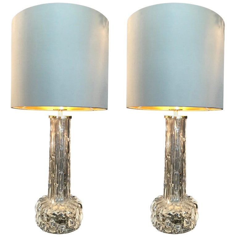 Swedish Glass Lamps by Orrefors