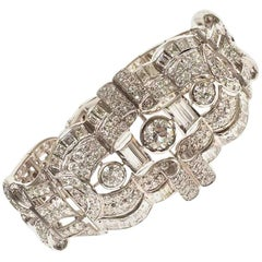 Retro Platinum Diamond Bracelet