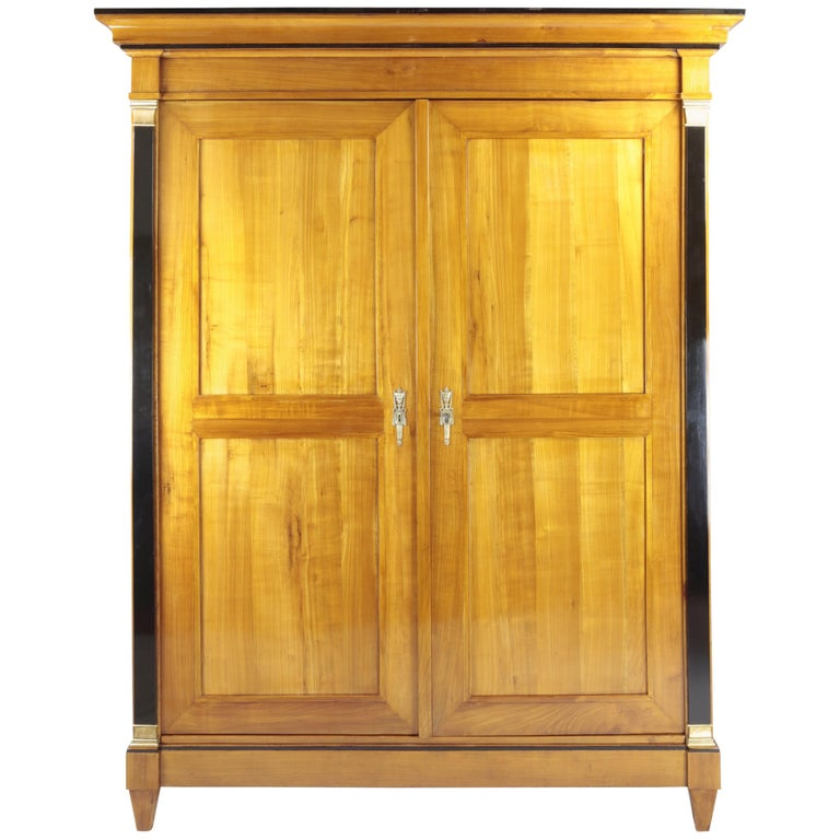 Biedermeier Period Cupboard Cabinet, Cherrywood, circa 1820-1830