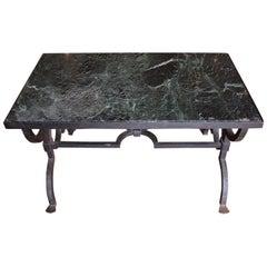 Gilbert Poillerat Wrought Iron Coffee Table, circa 1940