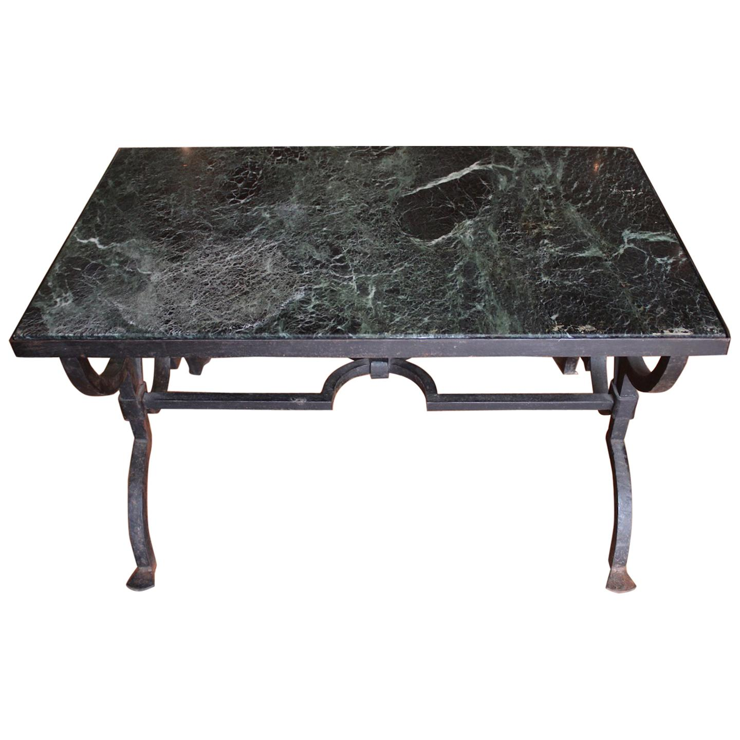Gilbert Poillerat Wrought Iron Coffee Table, Circa 1940