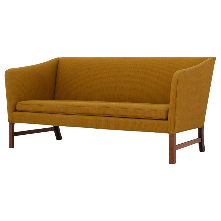 Two-Seat Sofa in Wool by Ole Wanscher