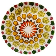 Piero Fornasetti Dinner Plate Giostra da Frutta, Plate No 2