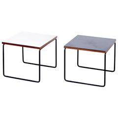 Set of Two Pierre Guariche Side Table for Steiner, circa 1950